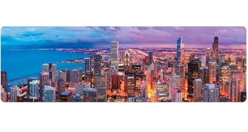 Quebra Cabeça Panorâmico Skyline Chicago 1500 Peças Toyster