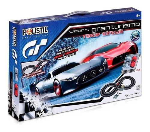 Pista De Corrida C/ Controles 1:43 Gt Racer Circuit Polistil