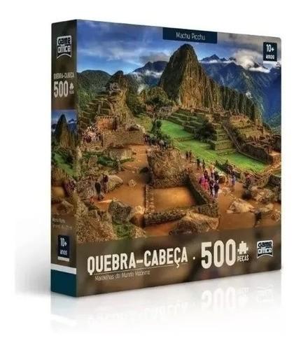 Quebra-cabeça Puzzle P500 Maravilhas Do Mundo - Machu Picchu