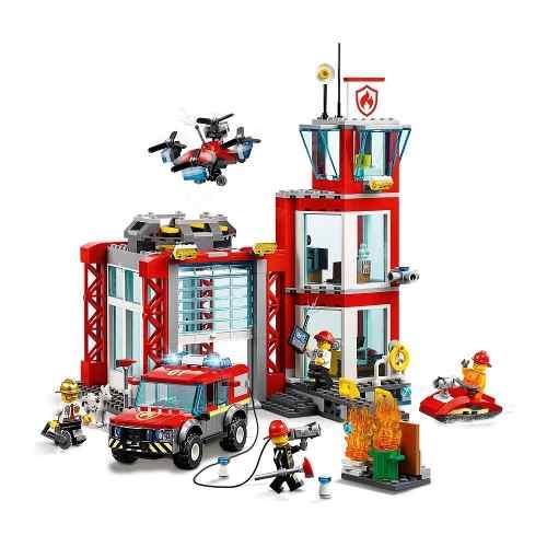 Lego City Quartel General Dos Bombeiros 60215