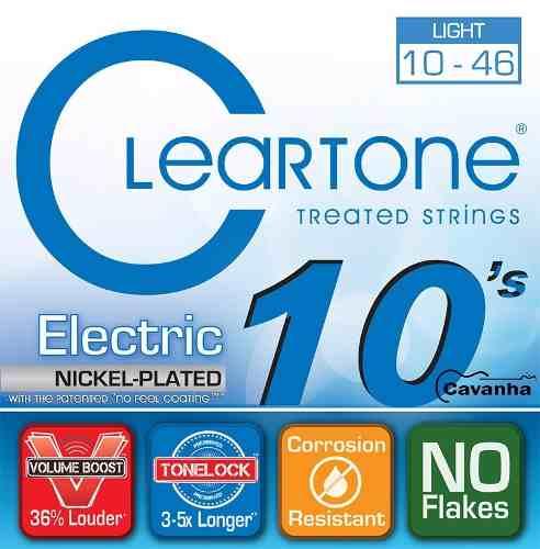 Encordoamento Guitarra Cleartone 010 Nickel Plated