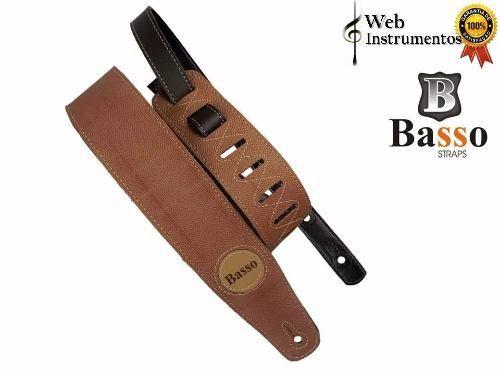 Correia Alça Basso Luxo Vt Sb 11 Whiskey Violão Guitarra