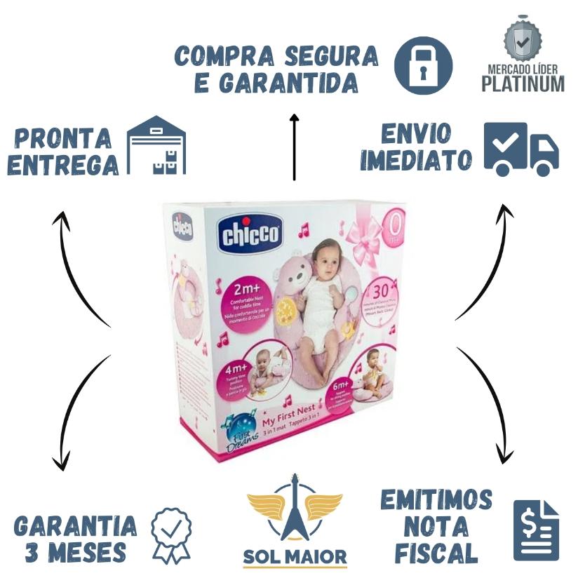 Almofada 3 em 1 My First Nest Rosa (0m+) - Chicco