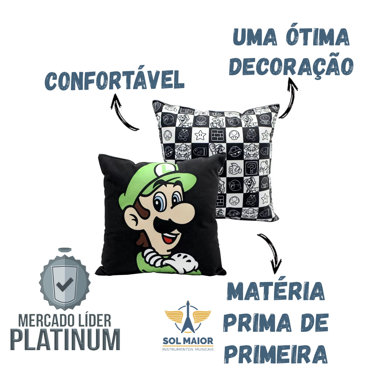 Almofada Fibra Veludo 25x25cm Luigi - Zona Criativa