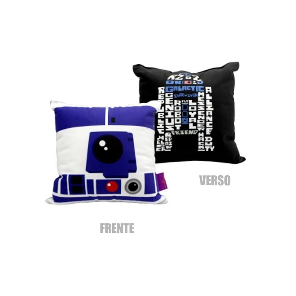 Almofada Fibra Veludo 25x25cm R2D2 Star Wars - Zona Criativa