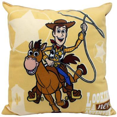 Almofada Fibra Veludo 25x25cm Toy Story Woody - Zona Criativa