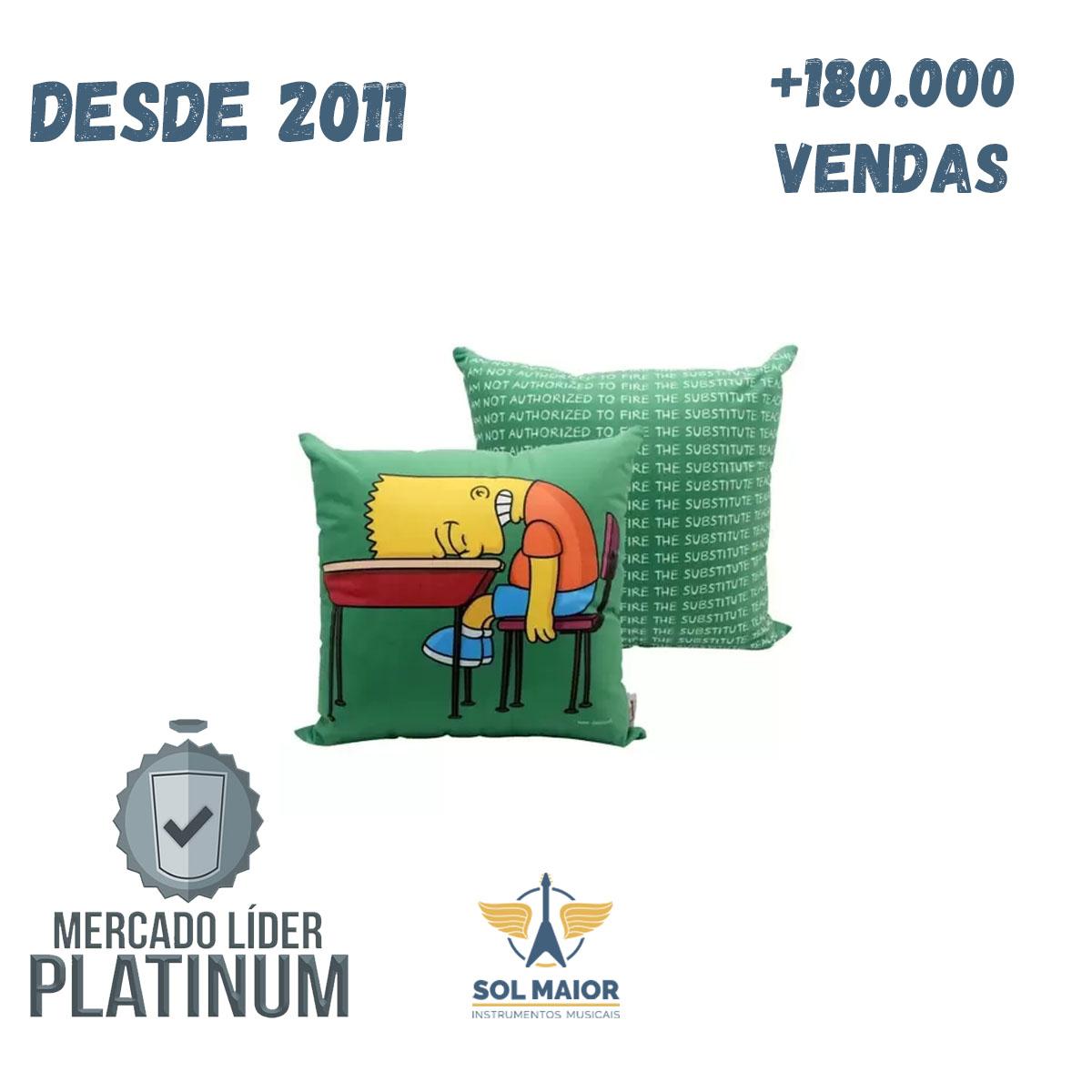 Almofada Fibra Veludo 40x40cm Bart Lousa - Zona Criativa