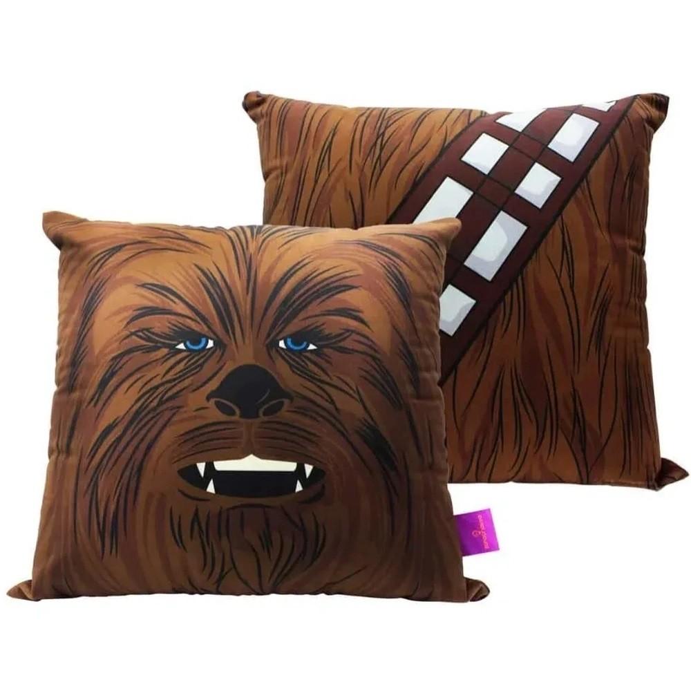Almofada Fibra Veludo 40x40cm Chewbacca Star Wars - Zona Criativa