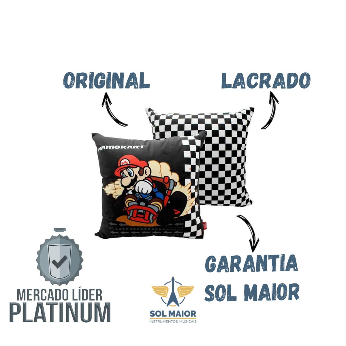 Almofada Fibra Veludo 40x40cm Mario Kart - Zona Criativa