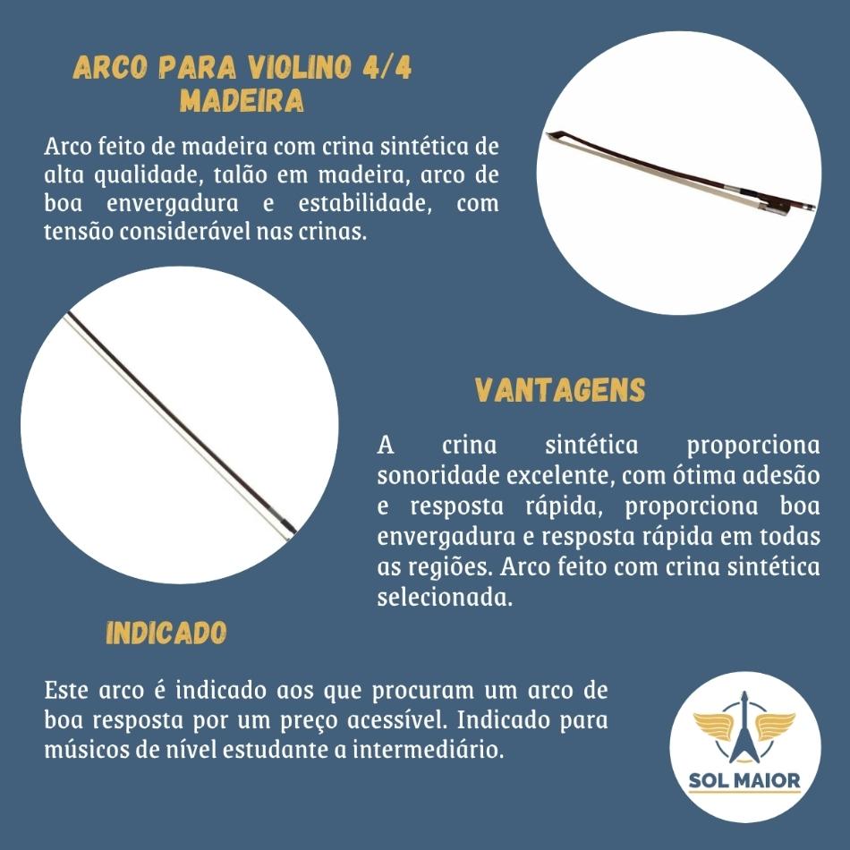 Arco de Violino 4/4 com Crina SVN-02 - Smart