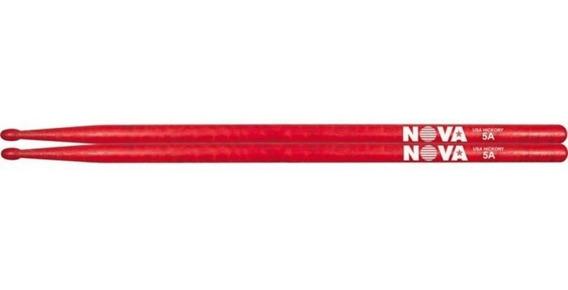 Baqueta NOVA 5AN Ponta de Nylon Vermelha - N5ANR