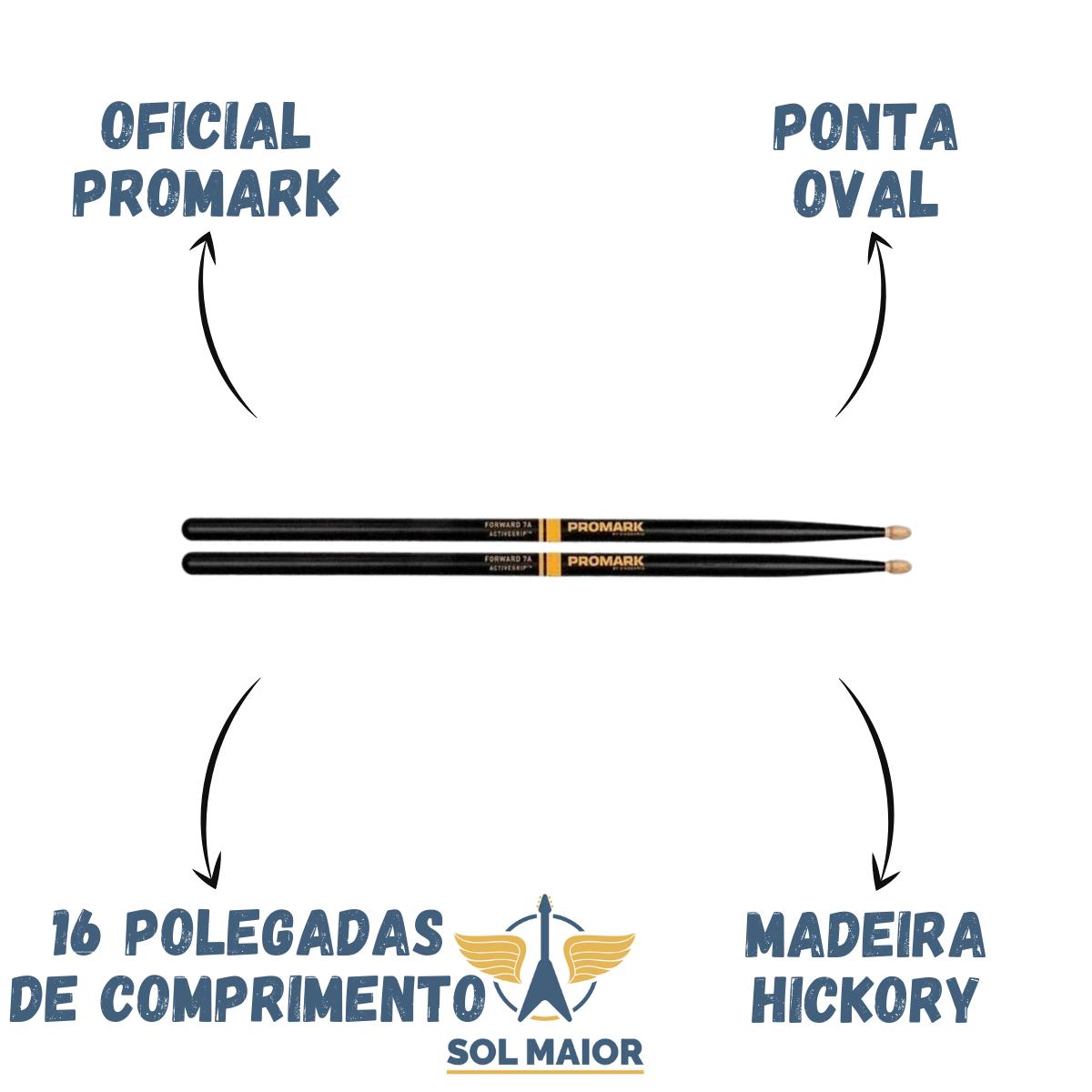 Baqueta Promark Active Grip Ataque 7a F7aag Original