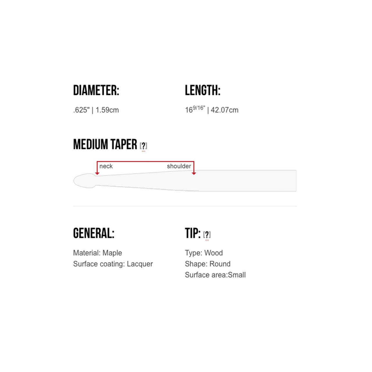 Baqueta Signature Tom Gauger TG15 Tenor Caixa Sinfônica