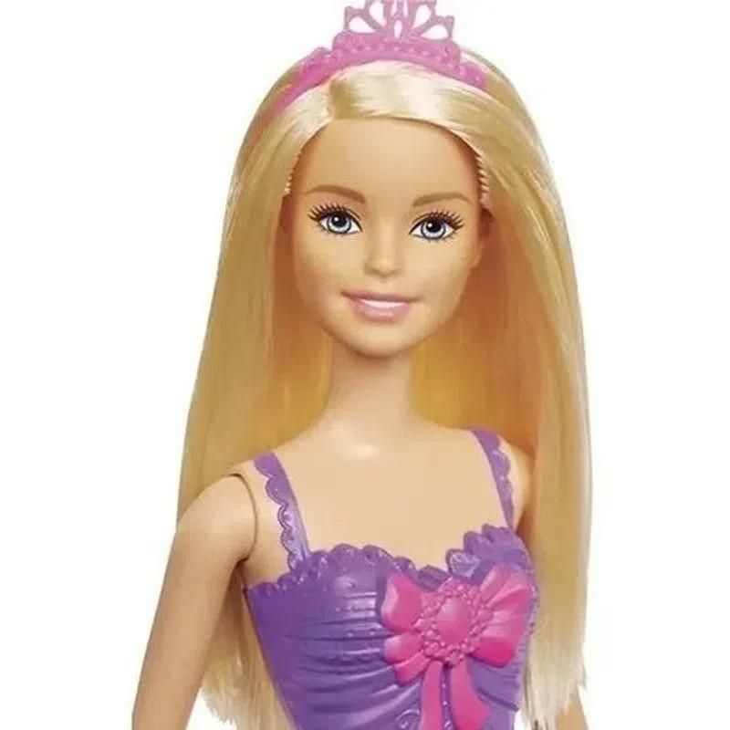Barbie Fantasia Princesa Básica Vestido Roxo E Rosa - Mattel