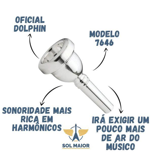 Bocal 6 1/2 AL Para Bombardino Dolphin - 7646