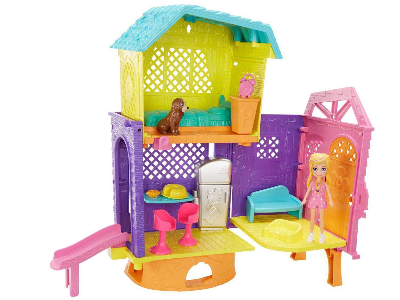 Boneca Polly Pocket Clubhouse com Acessórios - Mattel GMF81