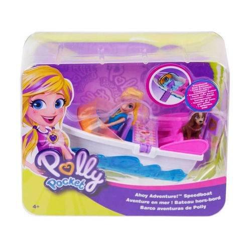 Boneca Polly Pocket Veiculo Aventura em Lancha Mattel GDM09