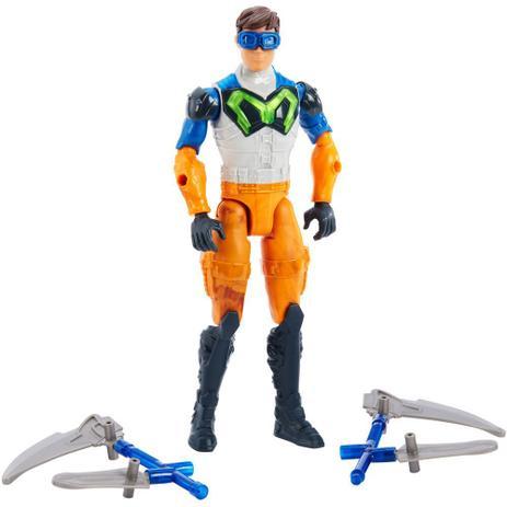 Boneco Articulado 30 Cm Max Steel Ataque Lança Dupla Mattel