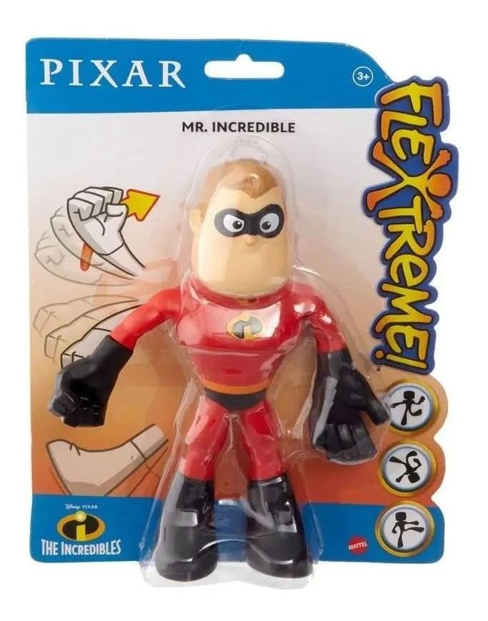 Boneco Flexível Pixar - Sr. Incrível - Os Incríveis - Mattel
