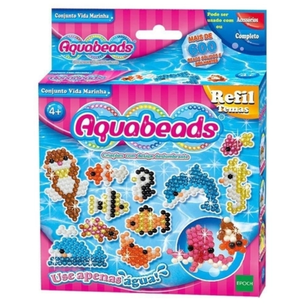 Brinquedo Aquabeads Novo Conjunto Vida Marinha Epoch 30638