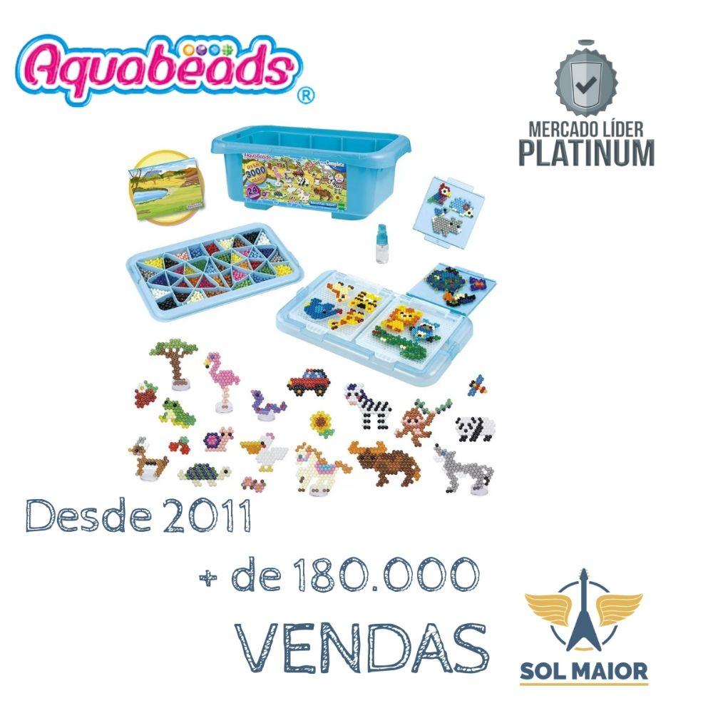 Brinquedo Caixa Aquabeads Box Of Fun Safari Da Epoch 32808