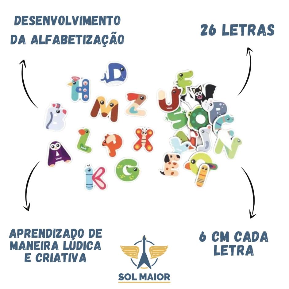 Brinquedo Educativo - Alfabeto Divertido - Babebi 6019