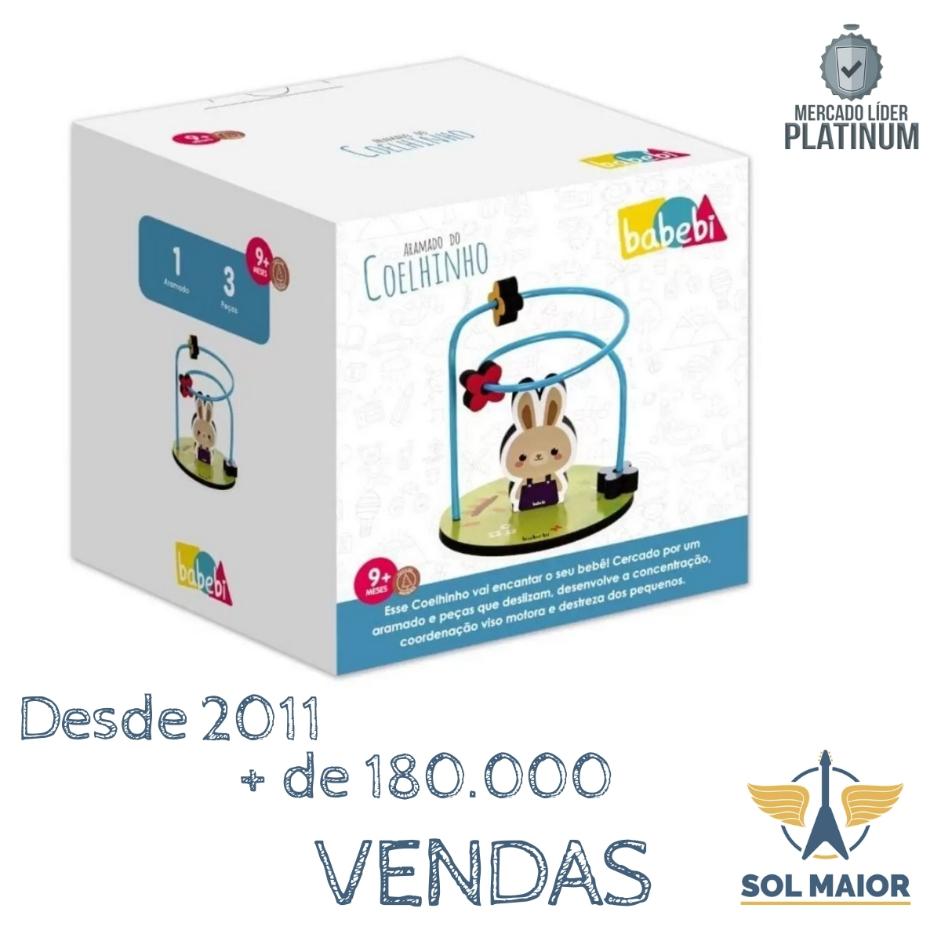 Brinquedo Educativo - Aramado Do Coelhinho - Babebi 6039