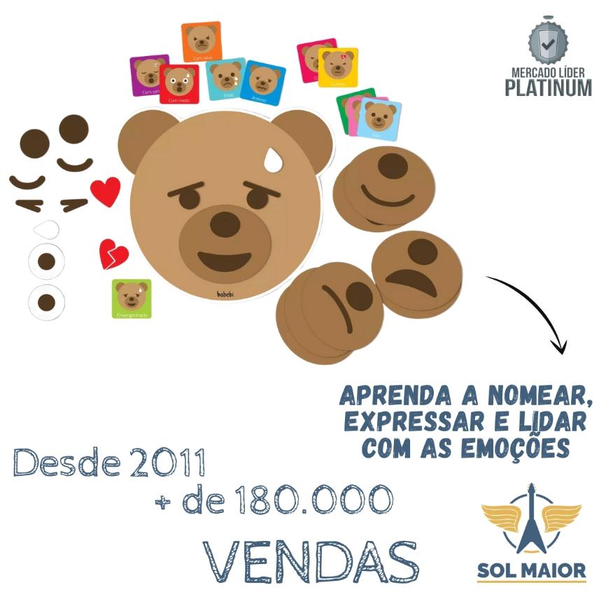 Brinquedo Educativo - Ursinho Como Me Sinto - Babebi 6065