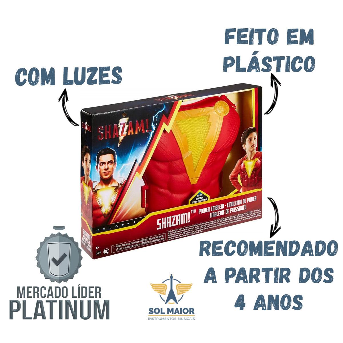 Brinquedo Peitoril Shazam C/ Luzes E Sons Mattel Gdn19