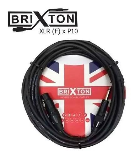 Cabo Brixton Para Microfones Xlr (f) X P10 - 3,05m BC303