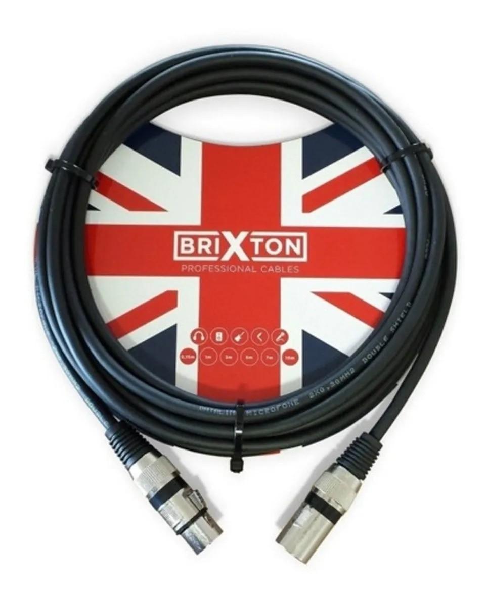 Cabo Para Microfone Brixton Xlrm X Xlrf Bc-205 5mts