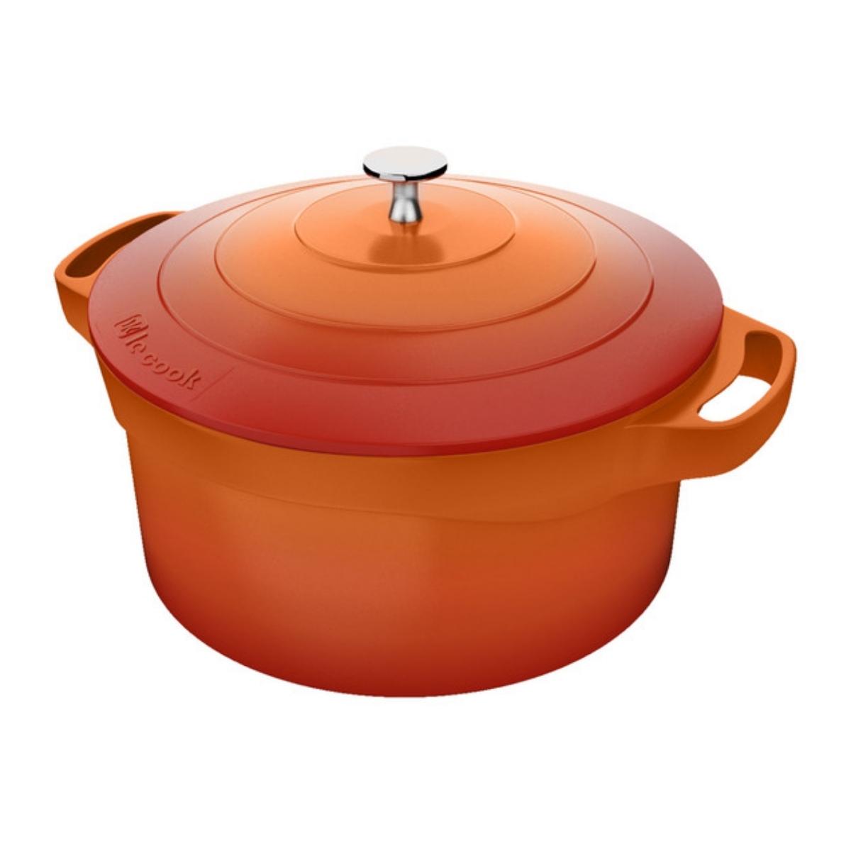 Caçarola 2,4L Premier Orange 24cm x 4mm Le Cook - LC1803