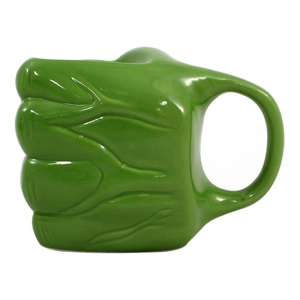 Caneca Formato Mão Hulk 3D 350ml Zona Criativa