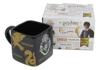 Caneca Porcelana Formato 3d 300ml Hogwarts Casas Zona Criativa