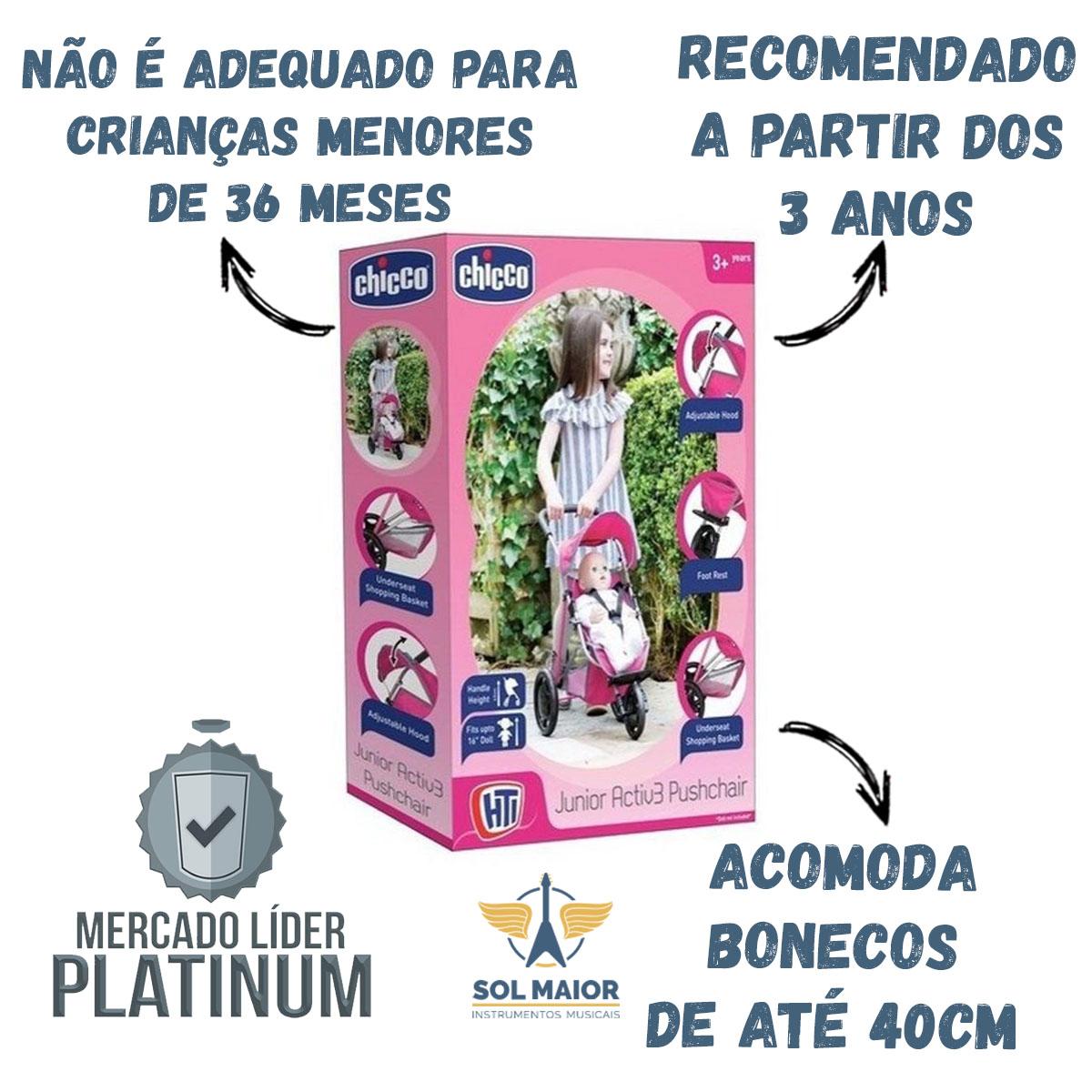 Carrinho Junior Active Pushchair Rosa - Chicco