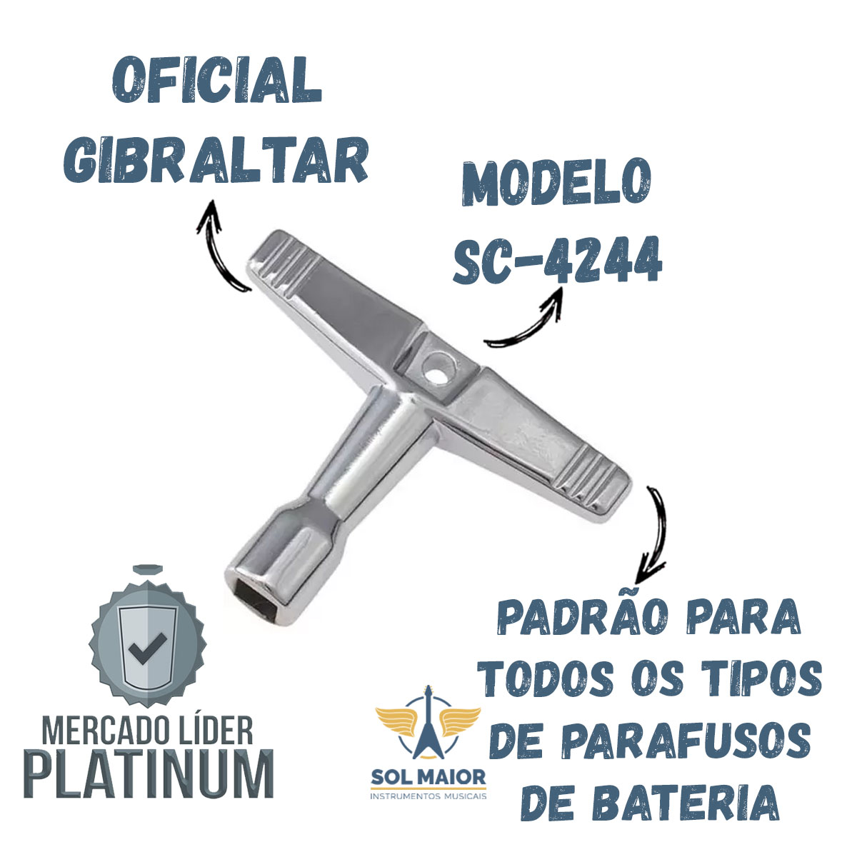 Chave De Afinação Gibraltar Sc-4244 Tradicional