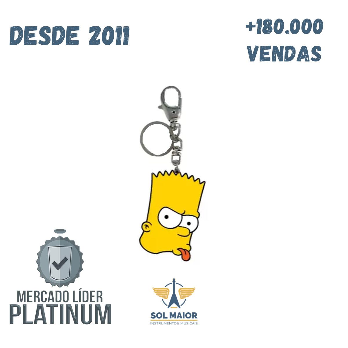 Chaveiro Geek Bart - Zona Criativa
