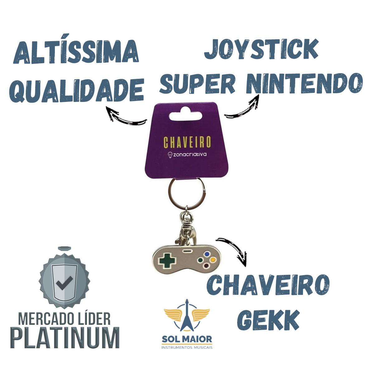 Chaveiro Geek Joystick de Video Game Super Nintendo - Zona Criativa