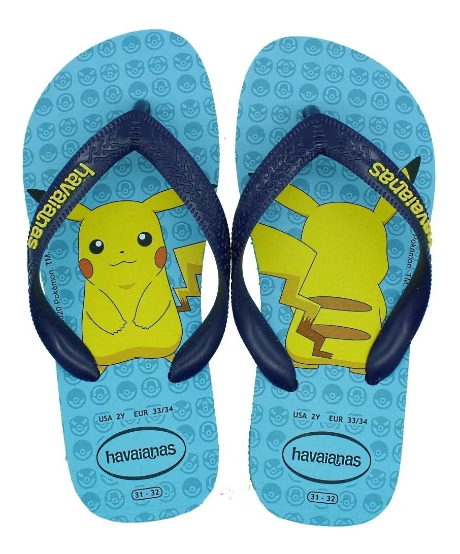 Chinelo Havaianas Infantil Pokémon Original Pikachu Sandália
