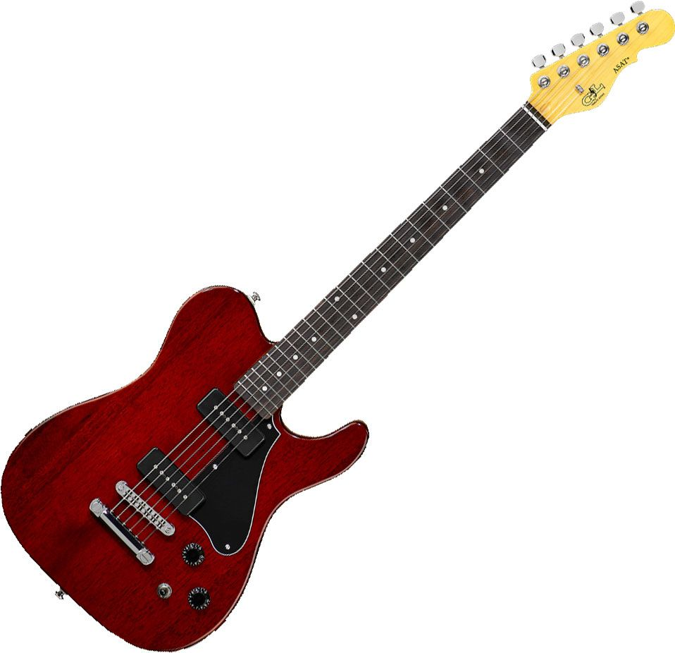 Guitarra G&L Tribute Asat Junior AJ2 Trans Red