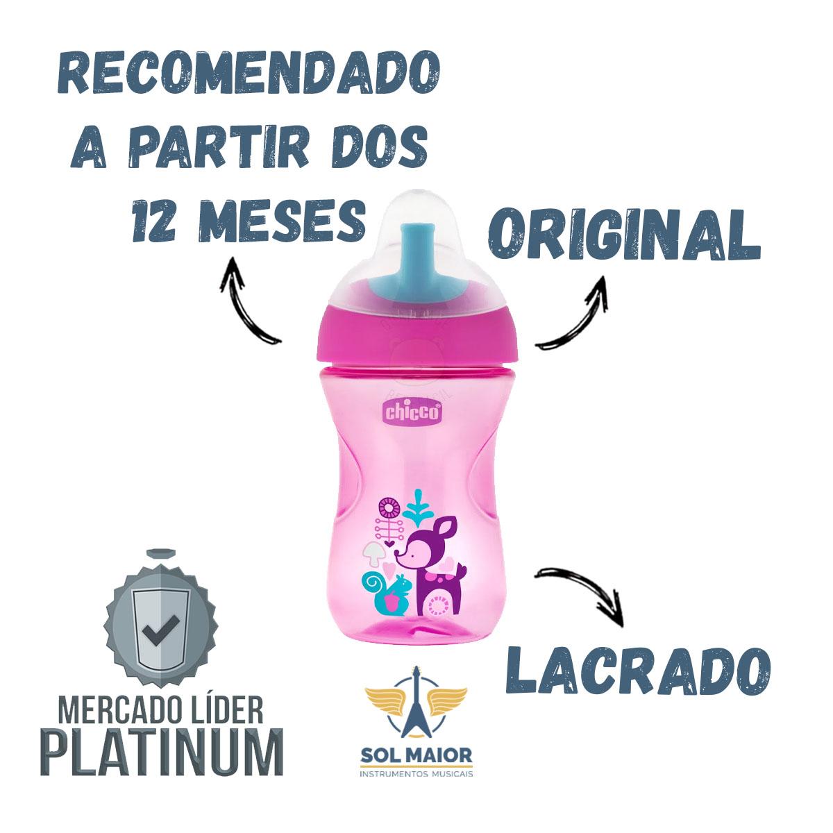 Copo De Treinamento 266ml 12m+ Advanced Cup rosa - Chicco