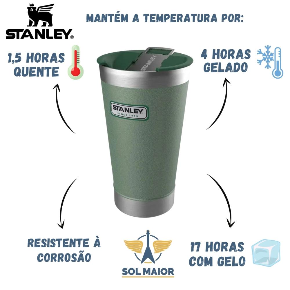 Copo Térmico Inox Stanley 473 mL Com Tampa -