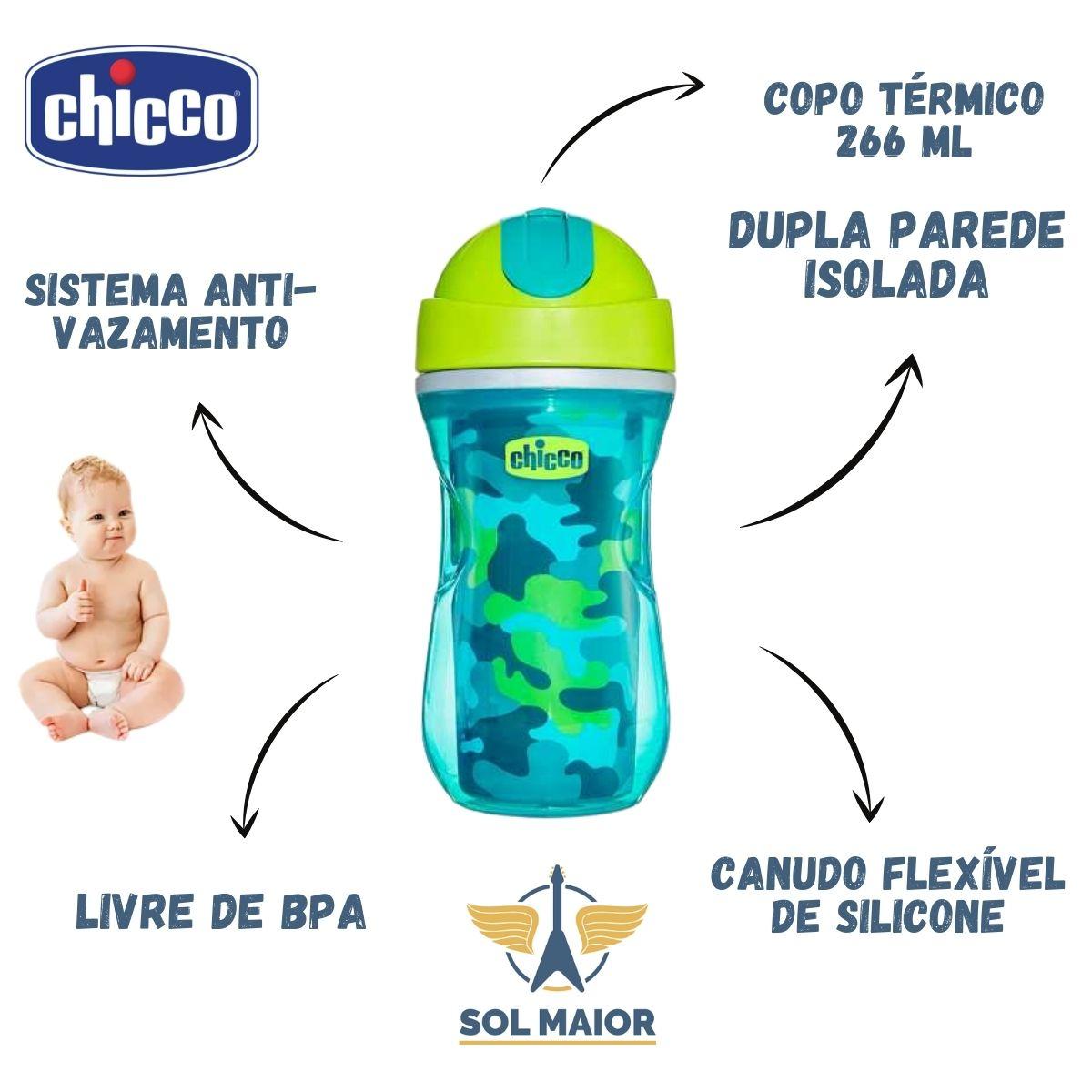 Copo Térmico Sport 266ml (14m+) Verde - Chicco