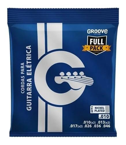 Cordas De Guitarra 010 Fullpack Groove Gfp2 C/ Cordas Extras