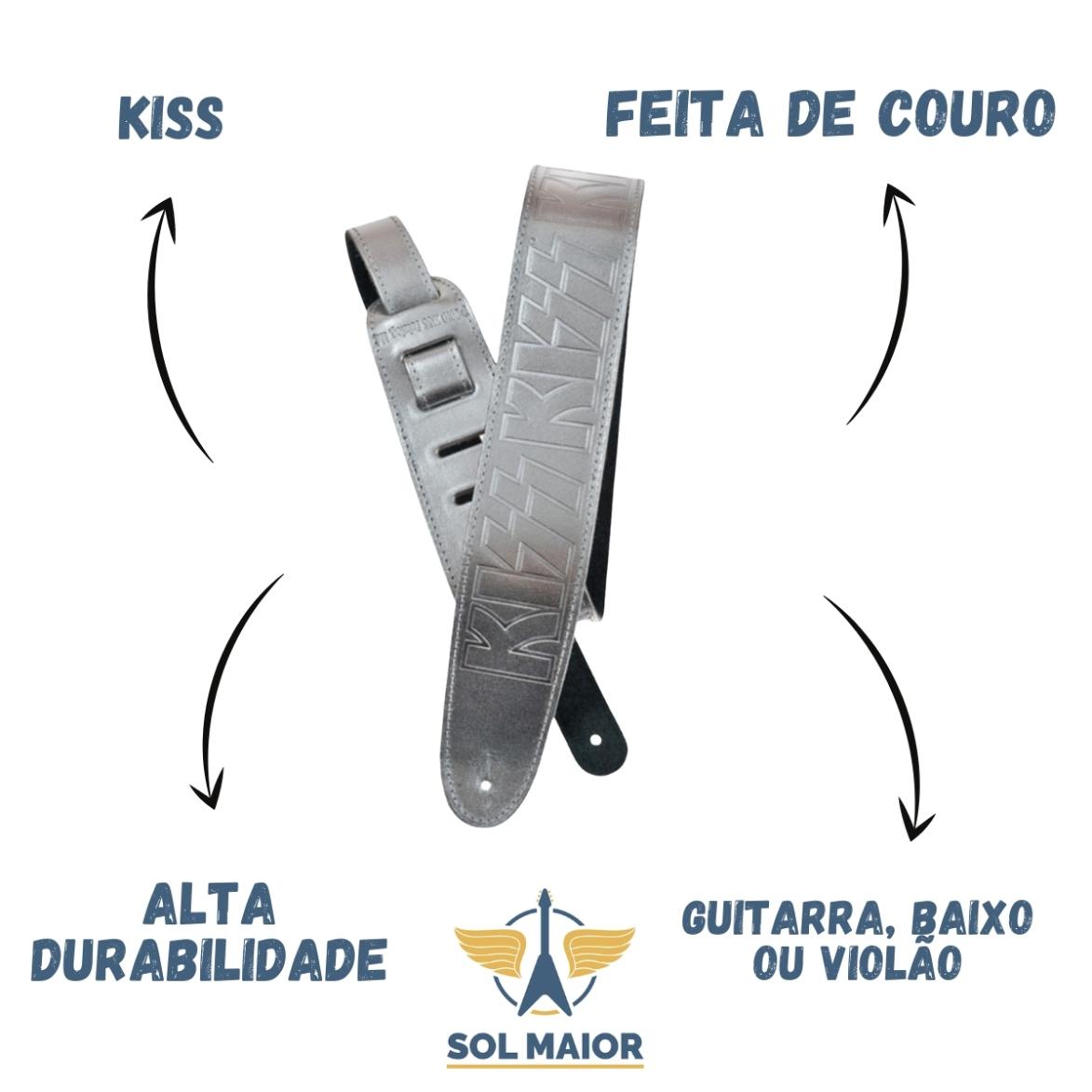 Correia Couro Planet Waves 25lk06 Kiss Double Platinum