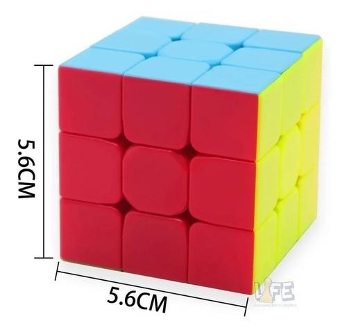 Cubo Mágico Profissional 3x3x3 Qiyi Warrior W Colorido V1