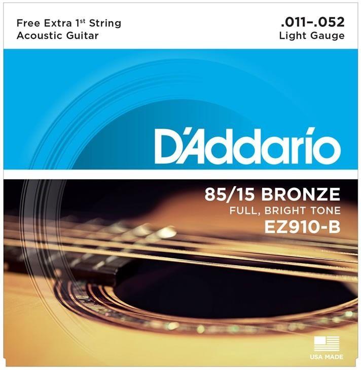 Daddario Ez910-b Encordoamento Violão Aço 011 - Original
