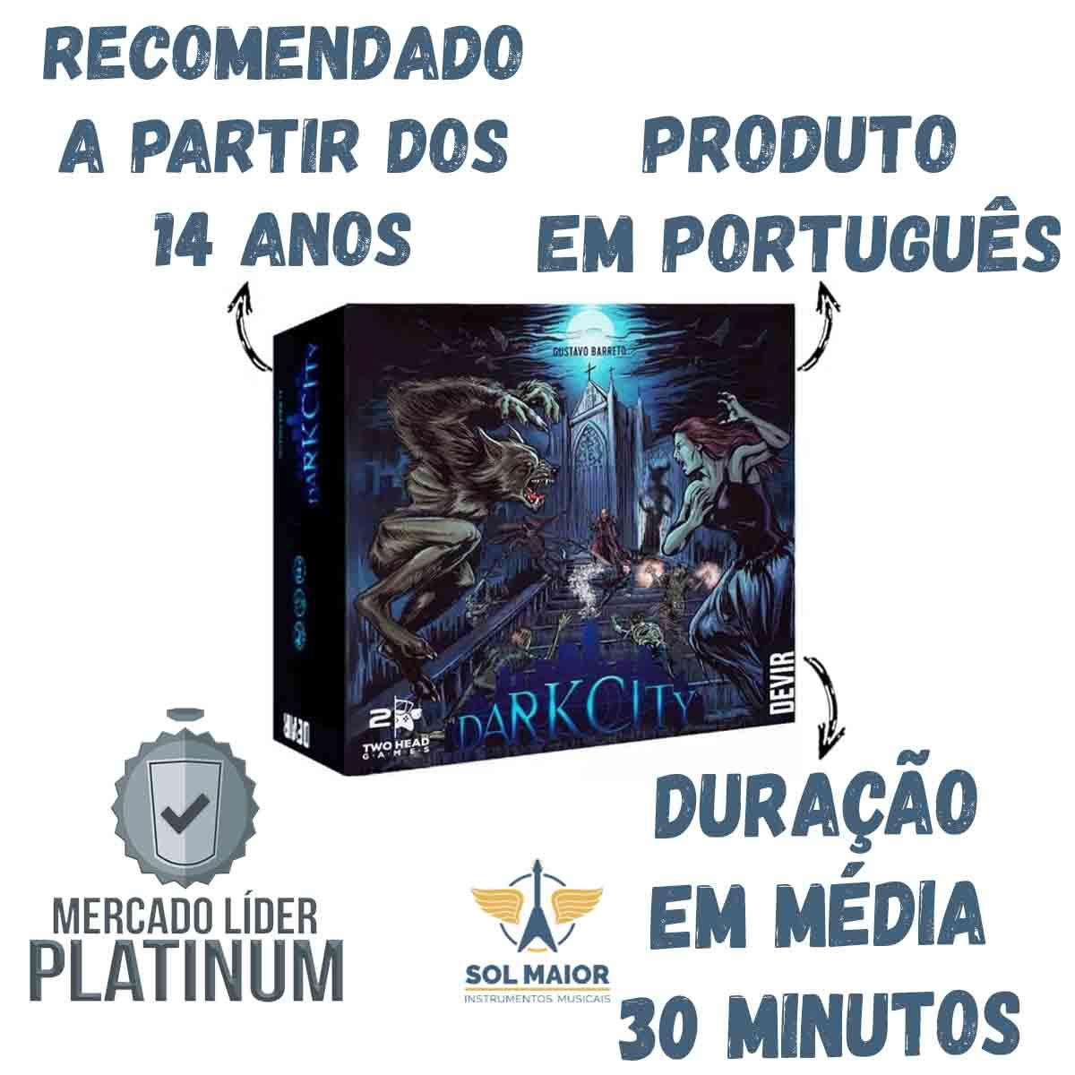 Dark City Jogo De Tabuleiro Devir Portugues Original Board
