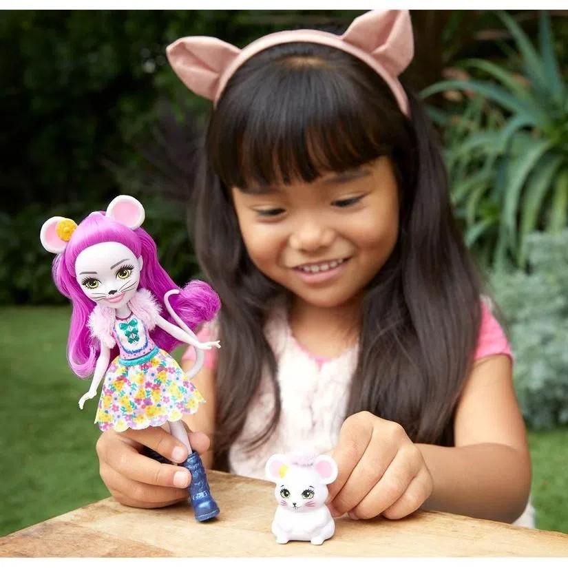 Enchantimals Boneca e Bichinho Mayla Mouse e Fondue - Mattel