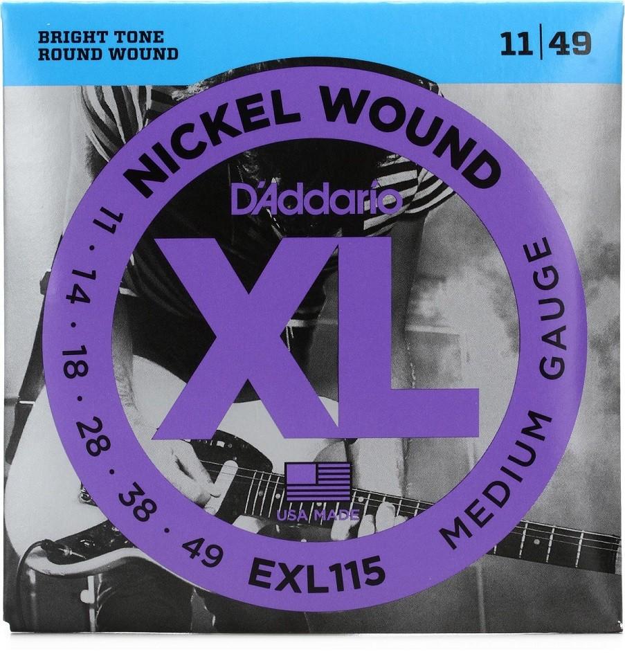 Encordoamento Daddario Guitarra Exl115-b + Mi Extra Oferta